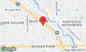 Map of 2125 North Damen Avenue C CHICAGO, IL 60647