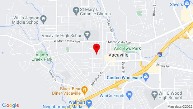 Google Map of 213 Buck Ave., Vacaville, CA 95688