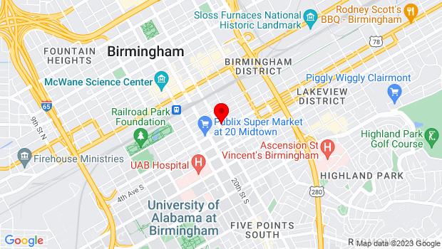 Google Map of 213 Richard Arrington Jr Blvd S., Birmingham, AL 35233