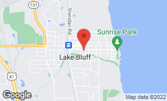 Map of 213 East Center Avenue Lake Bluff, IL 60044
