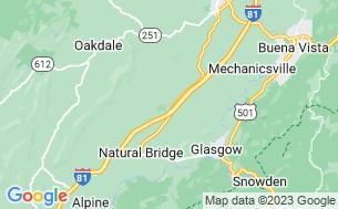 Map of Natural Bridge/Lexington KOA
