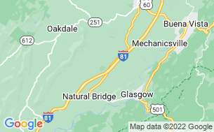 Map of Natural Bridge/Lexington KOA