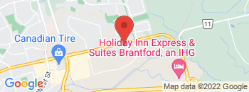 Google Map of 214+Lynden+Road%2CBrantford%2COntario+N3R+8A3