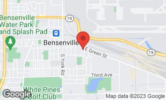 Map of 214 Park Street BENSENVILLE, IL 60106