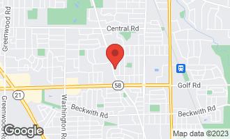 Map of 2144 Cedar Court GLENVIEW, IL 60025