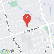 Road Map of 215 Grandview Ave, Markham, On