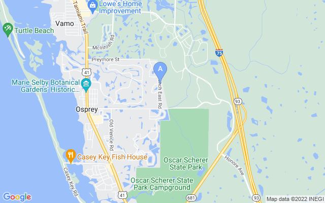 215 Pine Ranch East Rd Osprey Florida 34229 locatior map