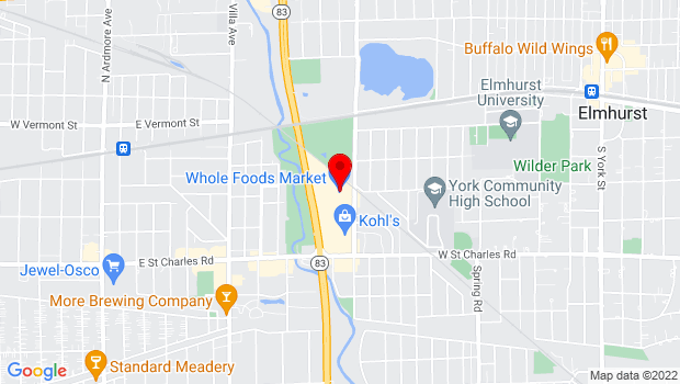 Google Map of 215 S IL Rte 83, Elmhurst, IL 60126
