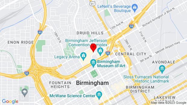 Google Map of 2150 Richard Arrington Jr. Blvd. N., Birmingham, AL 35203