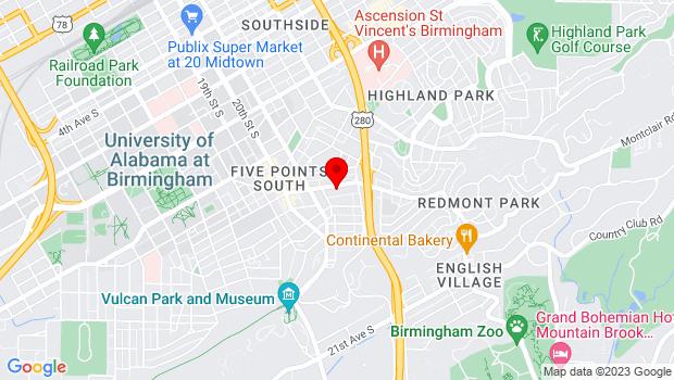Google Map of 2151 Highland Ave. So., Suite 120, Birmingham, AL 35205