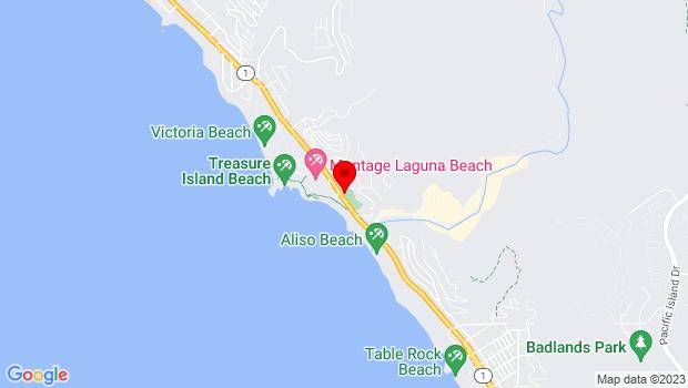 Google Map of 21540 Wesley Dr at South Coast Hwy, Laguna Beach, CA 92651
