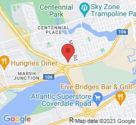 Google Map of 2155+West+Main+Street%2CMoncton%2CNew+Brunswick+E1C+9P2