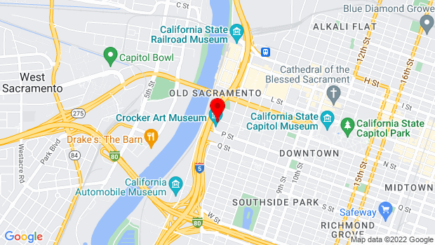 Google Map of 216 O Street, Sacramento, CA 95814