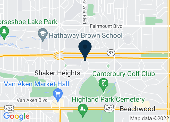 Map of 21600 Shaker Blvd, Shaker Heights, OH 44122, United States