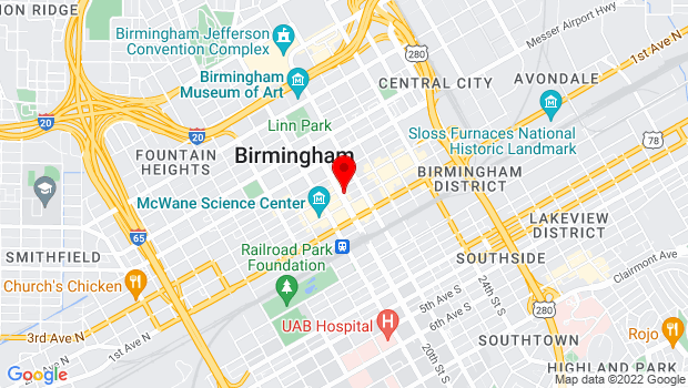 Google Map of 217 20th Street North, Birmingham, AL 35203