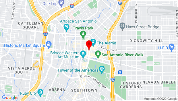 Google Map of 217 Alamo plaza, San Antonio, TX 78205