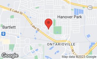 Map of 2173 Oak Avenue HANOVER PARK, IL 60133