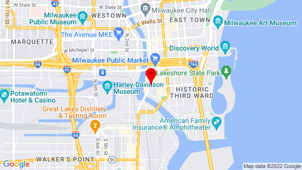 Google Map of 218 N. Water Street, Milwaukee, WI 53202