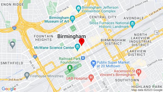 Google Map of 218 20th St N, Birmingham, AL 35203