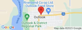 Google Map of 218+Saskatchewan+Avenue+W.%2COutlook%2CSaskatchewan+S0L+2N0