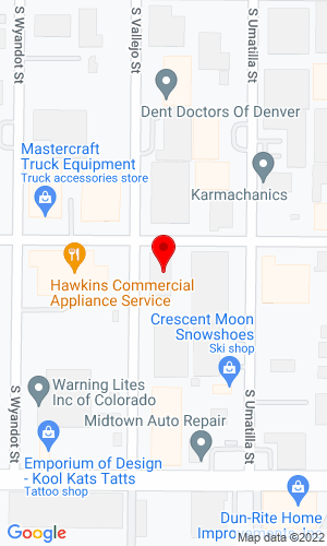 Google Map of Mastercraft Truck Equipment  2180 W Cornell Ave, Englewood, CO, 80110