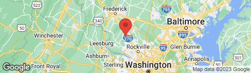 Map of 21890 WOODCOCK WAY CLARKSBURG, MD 20871