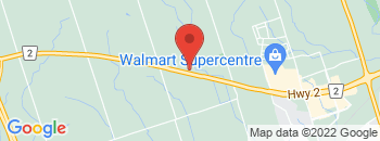 Google Map of 2196+Highway+2%2CBowmanville%2COntario+L1C+3K7