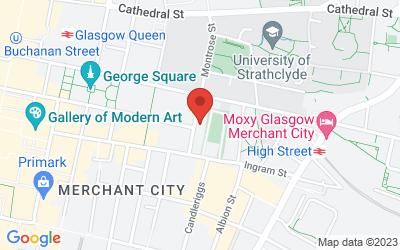 Map of 22 Montrose Street, Glasgow G1 1RE, UK