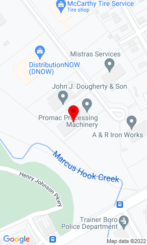 Google Map of Promac Mid-Atlantic 22 Nealy Blvd , Trainer, PA, 19061