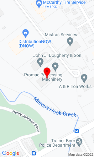 Google Map of Eastern Processing Equipment Inc. 22 Nealy Blvd, Trainer, PA, 19061