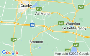Map of Camping Vacances Bromont