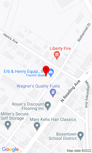 Google Map of Erb & Henry Equip., Inc. 22-26 Henry Avenue, New Berlinville, PA, 19545