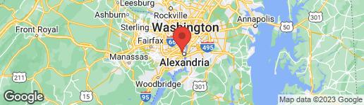 Map of 22 MYRTLE STREET E ALEXANDRIA, VA 22301
