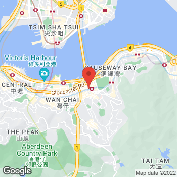 Map of Salvatore Ferragamo at 555 Hennessy Road, Hong Kong Island, Hong Kong SAR China