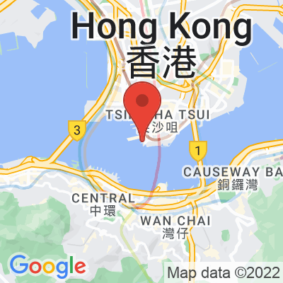 Map showing % Arabica Hong Kong Star Ferry