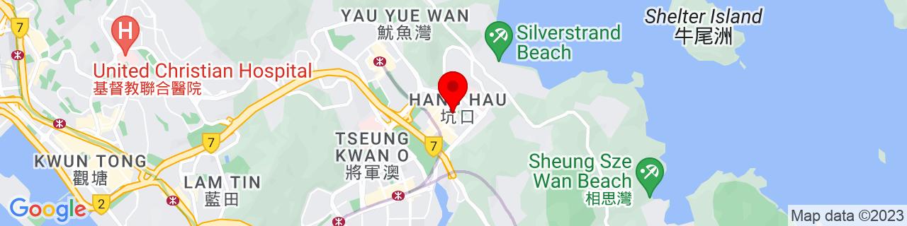 Google Map of 22.31667, 114.26667