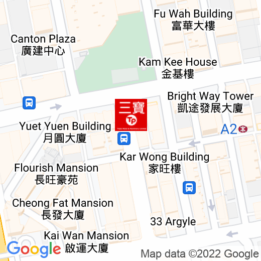 Google Map of 22.320190, 114.167469