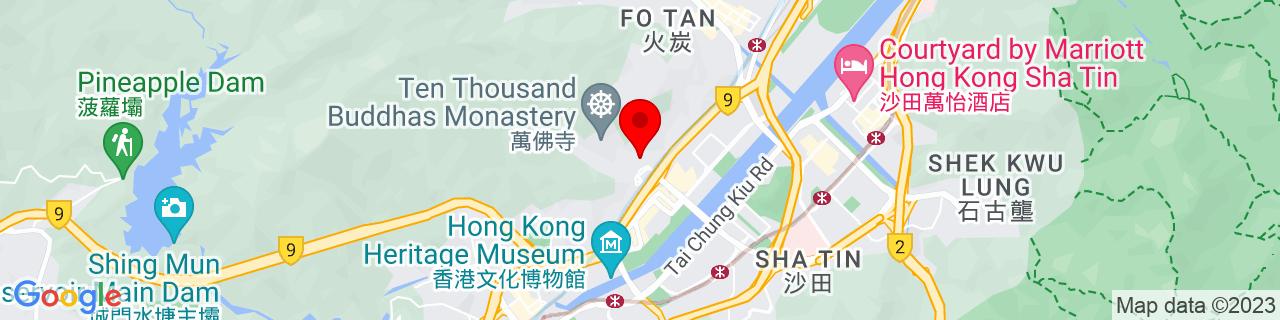 Google Map of 22.386030555555553, 114.18809722222223