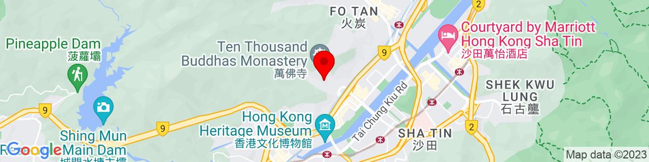 Google Map of 22.386269444444444, 114.1855