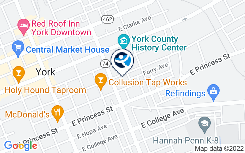 Yorktowne Psychological and Addiction Services Location and Directions