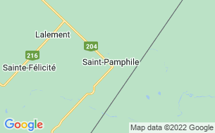Map of Camping Municipal Saint-Pamphile