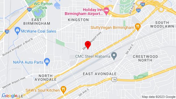 Google Map of 220 47th Street North, Birmingham, AL 35212