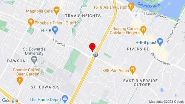 Google Map of 2200 S. IH-35, Austin, TX 78704