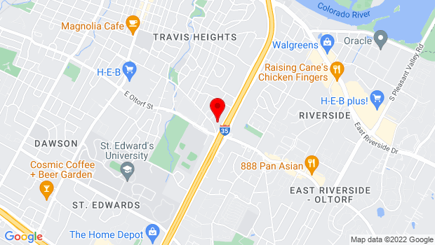 Google Map of 2200 S. IH-35 Frontage Road, Austin, TX 78704