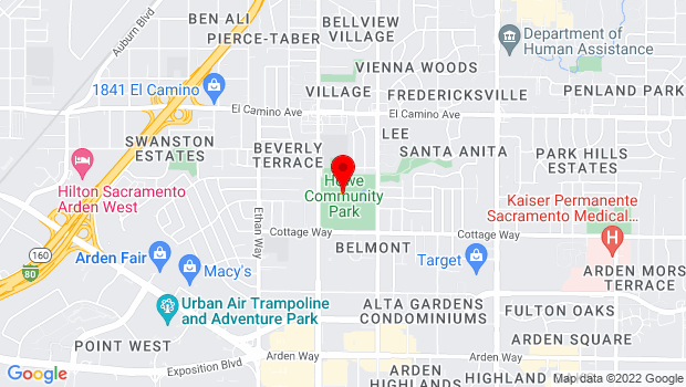 Google Map of 2201 Cottage Way , Sacramento, CA 95825