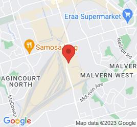Google Map of 2201+Markham+Road%2CScarborough%2COntario+M1B+2W3