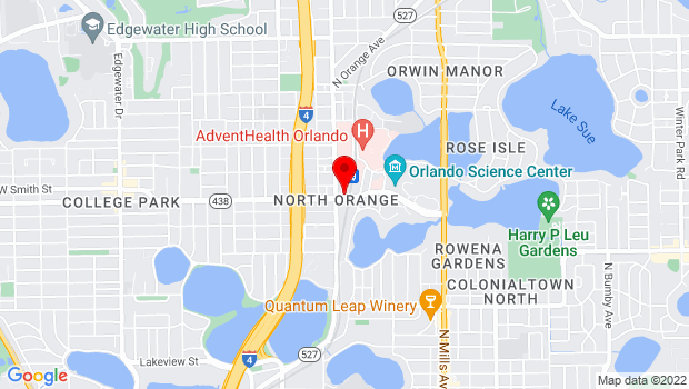 Google Map of 2201 McRae Ave., Orlando, FL 32803