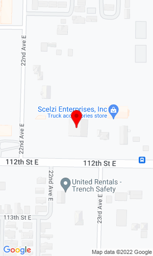 Google Map of Vermeer North West 2205 112th St E, Tacoma, WA, 98445