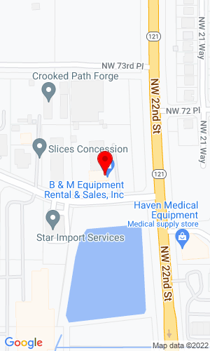 Google Map of B & M Equipment 2208 NW 71st Place, Gainesville, FL, 32653