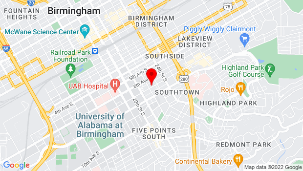 Google Map of 2208 7th Ave S, Birmingham, AL 35205